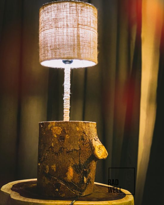 tree trunk table lamp photo